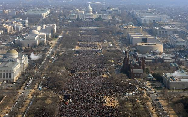 Jan. 20, 2009: The National Mall at Mr. Obama's first inauguration.