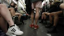 "Improv Everywhere comes up with original, creative ideas, such as its annual ""No Pants Subway Ride."" Advertisers have openly copied several of the group's antics in marketing campaigns. (Jessica Rinaldi/Reuters/Jessica Rinaldi/Reuters)"
