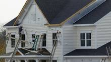 New housing construction is seen in Poolesville, Maryland, October 23, 2012. (Gary Cameron/Reuters)