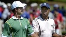 Adam Scott and Tiger Woods (Phelan M. Ebenhack)