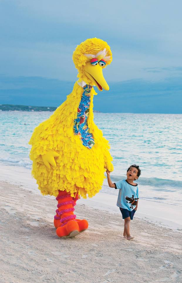 At the Beaches Turks and Caicos Resort and Spa, kids can spend time with the gang from Sesame Street.
