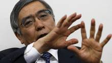 Asian Development Bank President Haruhiko Kuroda speaks during an interview in Tokyo Feb. 11, 2013. (Toru Hanai/REUTERS)