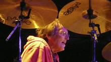 Richie Hayward at the kit for Little Feat in Courtenay, B.C., in July. It was his last performance. (Ken Kelly for The Globe and Mail)