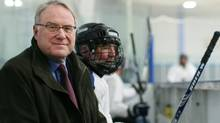 Former MP and NHL goaltender Ken Dryden photograph at a local rink in Ottawa. (Dave Chan/The Globe and Mail)