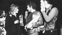 Anne Murray, Gordon Lightfoot, and Stoppin' Tom Connors at the 1973 Juno Awards. (Plum Communications Inc.)