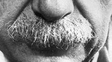 Albert Einstein is a famous mustache-wearer. (Philippe Halsman/AFP/Philippe Halsman/AFP)