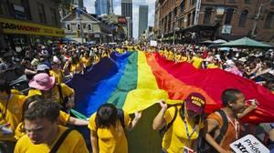 The 2011 Gay Pride Parade in Toronto.