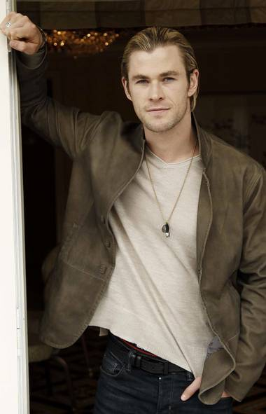 "A request was made by a commenter last week for ""more hotties."" Here is Chris Hemsworth, who portrays Thor in the film ""The Avengers,"" standing in your kitchen doorway wondering if you need any help opening that new jar of salsa. (AP)"