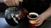 Tim Horton's has been recruiting for bilingual workers in North Africa for its Moncton stores because of the difficulty of finding local people to work. (CHRIS YOUNG/CHRIS YOUNG/THE CANADIAN PRESS)