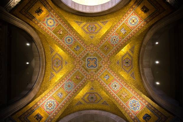 The ceiling of the Weston Entrance at the ROM.