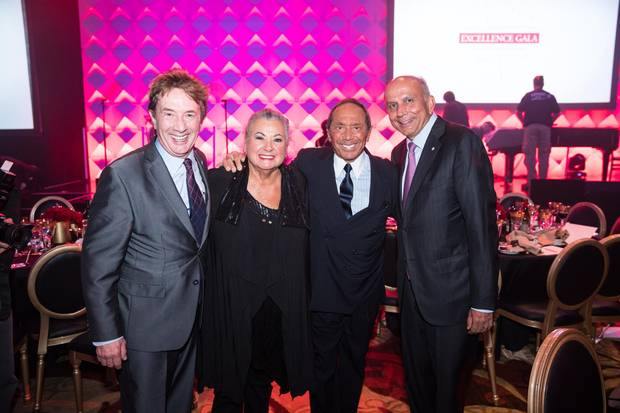Martin Short, Ginette Reno, Paul Anka and Prem Watsa.