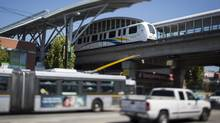TransLink is considering options to increase revenue to keep its trains running. (John Lehmann/The Globe and Mail)