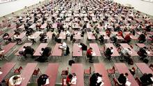 Students take exams at Saint Mary's University. Canada does not have a university admittance test. (Andre Forget/ CP/Andrew Forget/ CP)