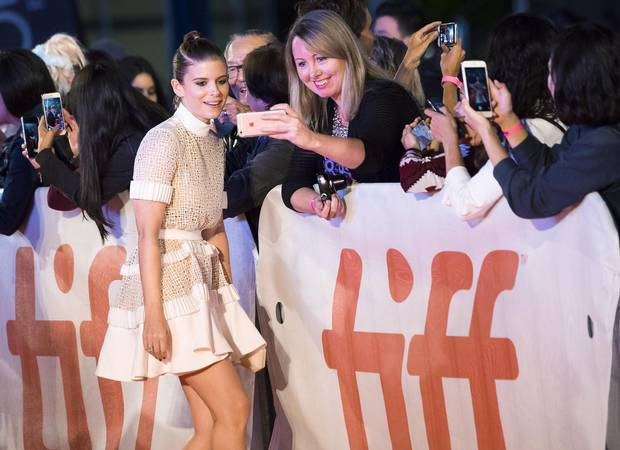 Actress Kate Mara poses on the red carpet for Film Stars Don't Die In Liverpool during TIFF on Sept. 12, 2017.