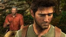 In this video game image released by Sony Computer Entertainment Inc., treasure hunter Nathan Drake, voiced by Nolan North, is shown in the foreground of a scene from 'Uncharted 3: Drake's Deception.' (AP Photo/Sony Computer Entertainment Inc.)