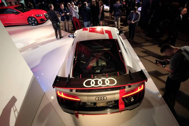 Audi R8 LMS GT4 is unveiled ahead of the New York International Auto Show.