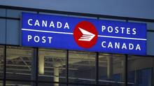 The Canada Post processing facility at the James Richardson Airport in Winnipeg. (Trevor Hagan/The Canadian Press)