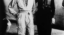 Aviator Amelia Earhart and her navigator, Fred Noonan, in front of their twin-engine Lockheed Electra in Los Angeles at the end of May, 1937. (Associated Press)