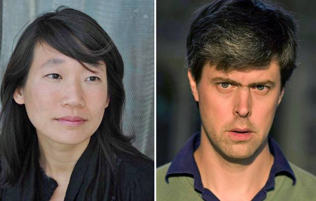 Madeleine Thien, left, and David Szalay, both 42, are among the 2016 Man Booker Prize nominees.