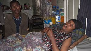 When Setew Tilahun had difficulty in delivering her baby, her brother Getachew Mesaye, left, and other villagers took her on an arduous journey to get help. By the time they finally reached doctors who could help, her baby was dead and she had almost died.
