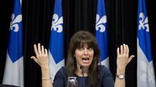 Véronique Hivon, the Quebec government's point person on a contentious end-of-life bill, is shown in Quebec City on June 12, 2013. (JACQUES BOISSINOT/THE CANADIAN PRESS)
