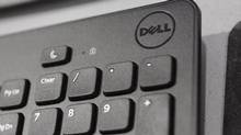 A Dell keyboard is shown at a store in Mountain View, Calif., in this file photo. (Paul Sakuma/The Associated Press)