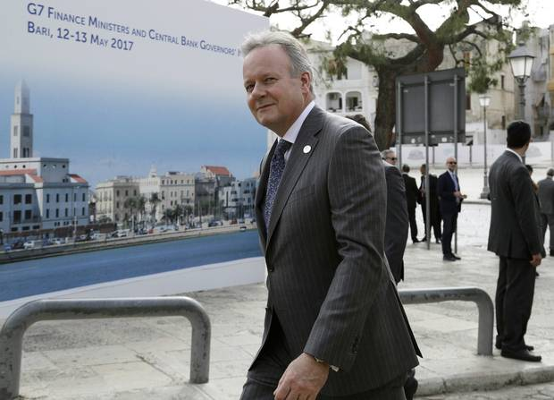 Bank of Canada Governor Stephen Poloz arrives for the opening session of the G7 of finance ministers earlier this year.