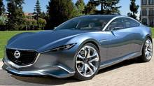 The Shinari sports coupe, a four-door concept, best encapsulates where Mazda design is headed (Mazda)