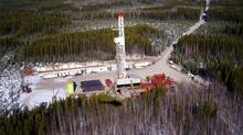 An Apache Canada drilling rig in the Ladyfern region of B.C. (Apache Canada)