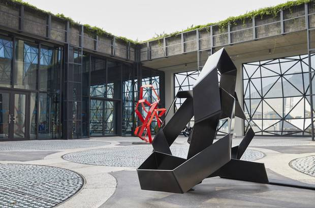 The Zeitz museum features a rooftop sculpture garden.
