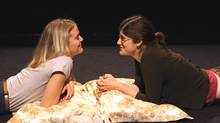 Amy Rutherford, left, and Becky Johnson star in A Beautiful View. (Hilda Lobinger)