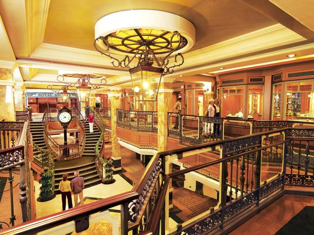 Inside the elegant MS Queen Victoria.