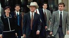 From left, U.S. Attorneys Beth Wilkinson, Patrick Ryan, and Sean Connelly lead the prosecution team from the federal courthouse in Denver, Thursday evening, April 3, 1997, during jury selection for the trial of Oklahoma City bomber Timothy McVeigh. The FTC has hired Ms. Wilkinson for its Google probe, with little antitrust experience but a long record of victory, Ms.Wilkinson has built a reputation as a tough litigator. (Michael Caulfield/Michael Caulfield/AP)