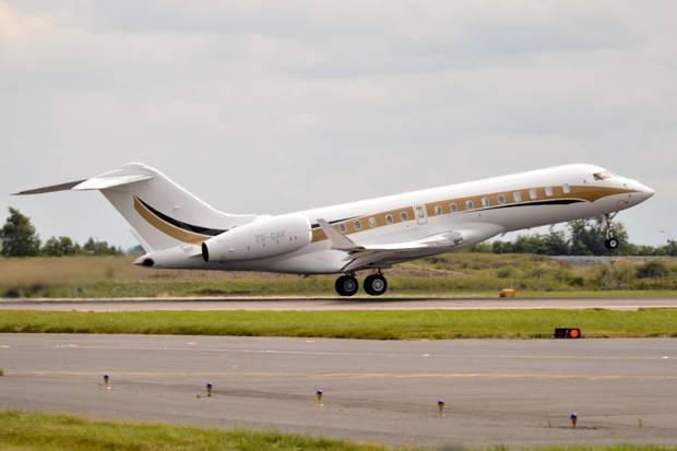 The Guptas' ZS-OAK private jet.