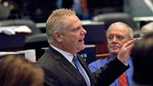 Councillor Doug Ford speaks during a city council meeting in March at Toronto City Hall. (Michelle Siu/Michelle Siu for The Globe and Mail)