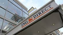 Signage for ING Direct USA, a unit of ING Groep NV, is displayed outside of a branch in New York, U.S., on Wednesday, March 9, 2011. (Peter Foley/Bloomberg/Peter Foley/Bloomberg)