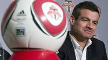 New Toronto FC head coach Ryan Nelsen greets the media in Toronto on Tuesday January 8, 2013. The former Queens Park Rangers centre back replaces Paul Mariner, who took over 10 games into the disastrous 2012 season for the MLS club. (Frank Gunn/The Canadian Press)