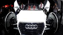 Audi urban concept car is displayed at the Frankfurt auto show, 2011. (BORIS ROESSLER/BORIS ROESSLER/AFP/Getty Images)