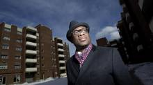 Justice Donald McLeod stands near where he grew up at Glider Dr. in Toronto in February. He is known in legal circles for his career in criminal, human rights and administrative law. (Peter Power/The Globe and Mail)