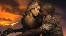 A screenshot from the music video for Kanye West's Bound 2, which was widely mocked after its release. (Screengrab)