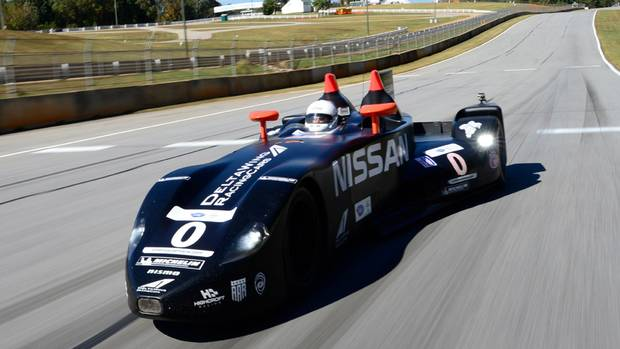 "Conceived as a ""green race car,"" the Deltawing's light weight and low aerodynamic drag allow it compete on half the fuel required by its rivals. Tire and brake life is dramatically increased. (Nissan)"