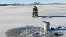 Ice fishing on Minnie Lake. The legal battle between the Nicola Valley Fish and Game Club and U.S. billionaire Stanley Kroenke looks lopsided. The club claims a public road used to provide free access to Minnie and Stoney Lakes. Fearing that if the Douglas Lake Cattle Co. gets away with locking them out of Minnie and Stoney, up to 20 other lakes could also be put off limits, club members climbed over the gate, walked out on the frozen lake and started fishing.