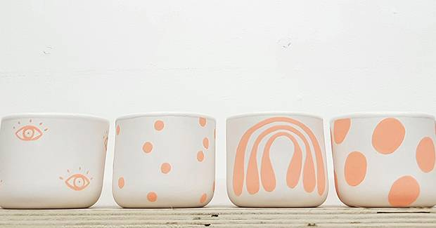 Eikcam is a line of quirky ceramics by artist Grace Lee.