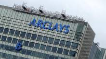 "The letter ""B"" of the signage on the Barclays headquarters is hoisted up the side of the building in London July 20, 2012. Manipulating market benchmarks in the European Union would be illegal under a draft law being proposed next week after Barclays' admission of rigging the Londíon-based Libor rate, the EU's executive body said on Friday. The European Commission said it would extend its draft law on tackling market abuses which is currently awaiting approval from the European Parliament and member states. (SIMON NEWMAN/Reuters)"