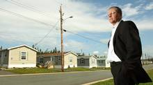 Philip Fraser , CEO of Killam Properties, at one of his company's trailer parks in Eastern Passage, N.S. (PAUL DARROW/Paul Darrow for the Globe and Mail)