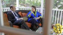Carmen Reinhart, right, and Kenneth Rogoff (MARY F CALVERT/NYT)