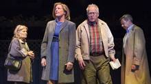 Nancy Beatty, Julie Stewart, Eric Peterson and Michael Healey are part of an all-star cast in George F. Walker's Dead Metaphor. (Cylla von Tiedemann/Mirvish)