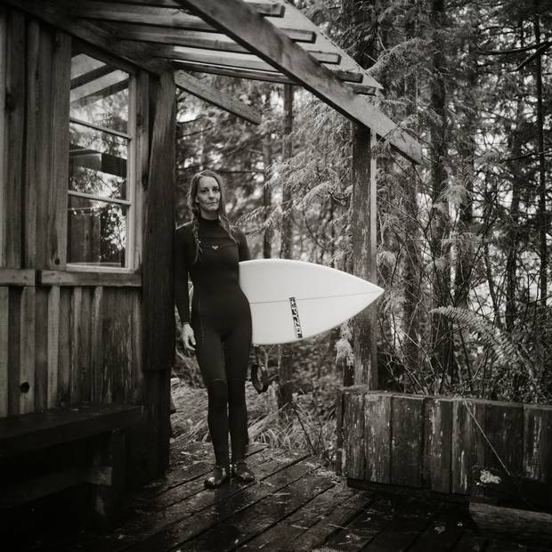 Catherine Bruhwiler grew up on Chesterman Beach, at a time when only a handful of surfers were in the water. 'I probably got into [surfing] by accident – just because it was something to do,' she said. 'We grew up without a TV, and we were right there, so that was like our playground.'