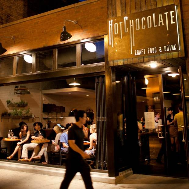 Mindy's Hot Chocolate is a popular joint in the neighbourhood, serving an eclectic brunch menu and eight varieties of hot chocolate.