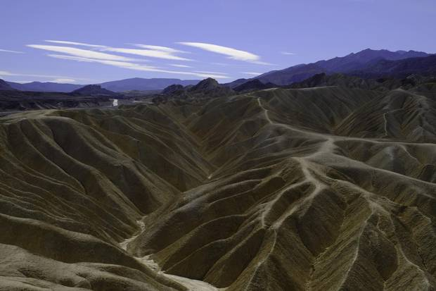National park Death Valley is fiercely and frighteningly beautiful.
